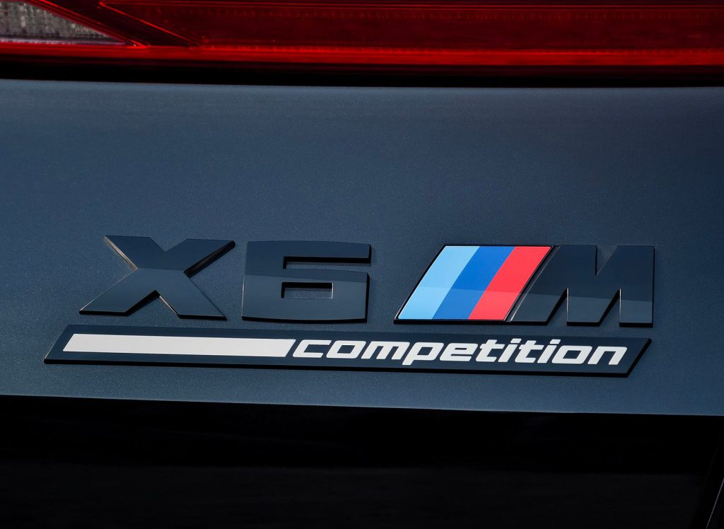 BMW X6 M Competition badging