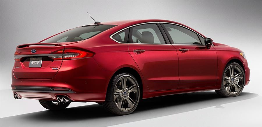 Ford Fusion rear view