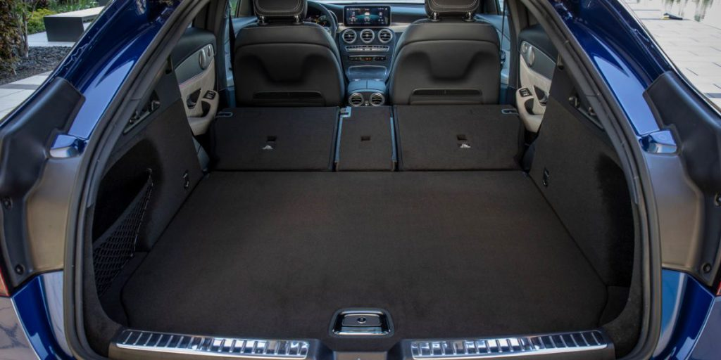Mercedes GLC trunk with seats folded down