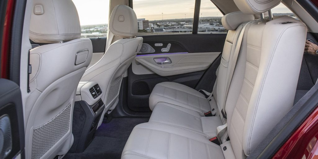 Rear seats of the GLE