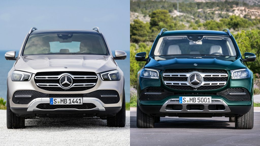 mercedes gle and gls side-by-side
